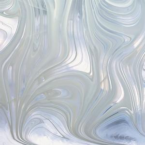 Spectrum white on clear baroque glass lincoln glass for Clear baroque glass